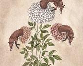 Fox Blooms - Original Painting