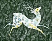 Spring Garden Deer - Print