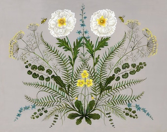 Poppy and Primrose - Print