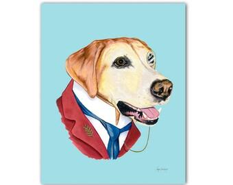 64fa337d72d Labrador Retriever Dog art print 11x14