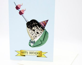 Happy Birthday Card - Party Narwhal - Narwhal and Cupcakes - Berkley Illustration - Greeting Card - Ryan Berkley - Dapper Animals