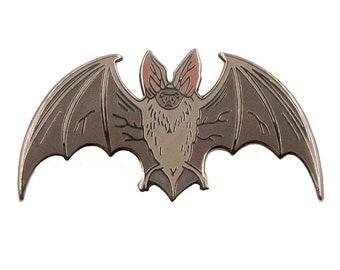 Enamel Pin - Bat - Nature Pin - Natural Values - Ryan Berkley Illustration - Pin  - Stocking Stuffer - Halloween - Cloisonne