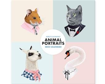 Calendar - 2022 Calendar - Wall Calendar - Animal Portraits - Berkley Illustration - Ryan Berkley