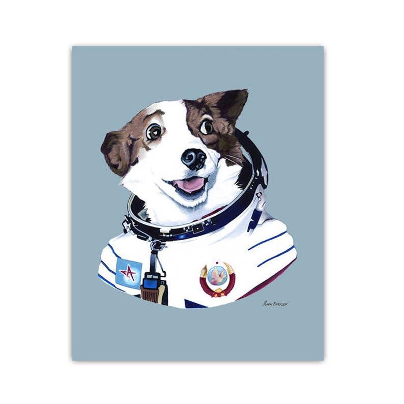 Strelka The Space Dog print 8x10 image 0