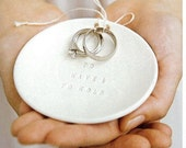 Ring Bearer Bowl To Have And To Hold, wedding ring holder, jewelry dish for ringbearer  by Paloma's Nest
