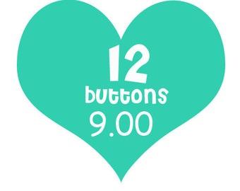 12 flair buttons for 9 bucks