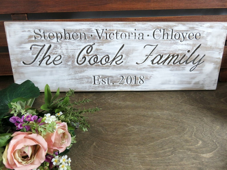 Custom Family Sign  Gifts for Brides  Family Plaque  image 0