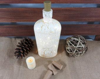 Bottle Lights, Painted Bottles, Housewarming Gift, Gift for a Family
