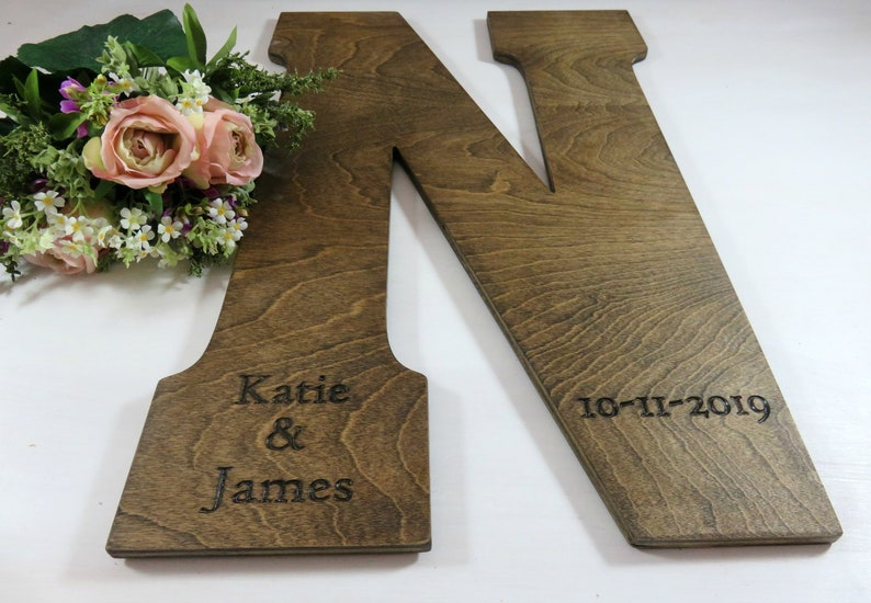 Guest Book Alternative  Wall Letters  Wedding Guest Book image 0