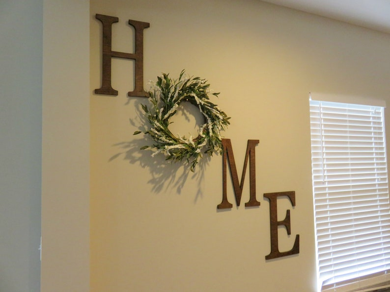 Home Letter Set  New Home Gift  Wood Letter  Home Letters image 0