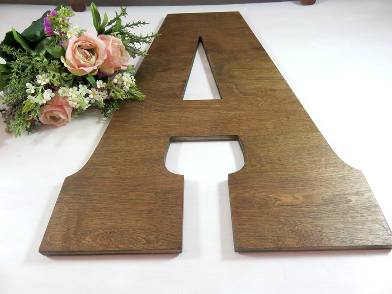 Large Uppercase Letter  Custom Cute Letters  Wood Letters  image 0