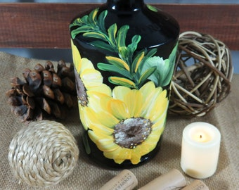 Bottle Vase, Home Decor, Glass Vase, Home Decor Vase, Birthday Gift, Gift for a Friend