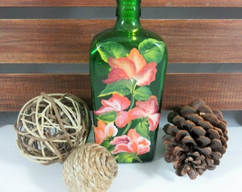 Upcycled Bottle, Fairy Lights, Glass Bottle, Birthday Gift, Gift for a New Home