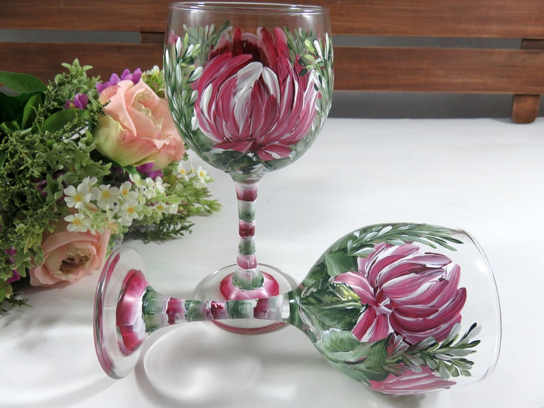 Small Painted Wine Glasses  Hand Painted Glasses  Christmas image 0