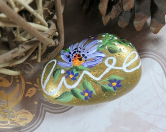 Pebble Art, Painted Stone, Inspirational Gift, Gift for Her