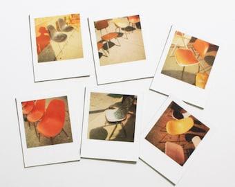 "vintage chair ""instant film"" magnets ... set of 6 magnets"