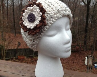 Buttons and Blossoms Ear Warmer Crochet Pattern
