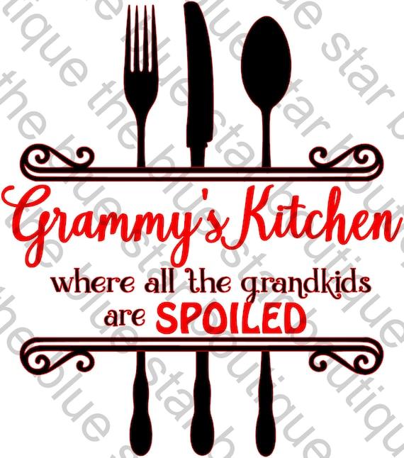 Grammy S Kitchen Svg Cut File Svg Jpeg Eps Dxf Png Etsy