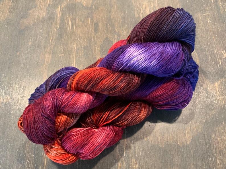 Teton Knitting Company Mountain Sock Hand Dyed Sock Yarn Oxbow image 0