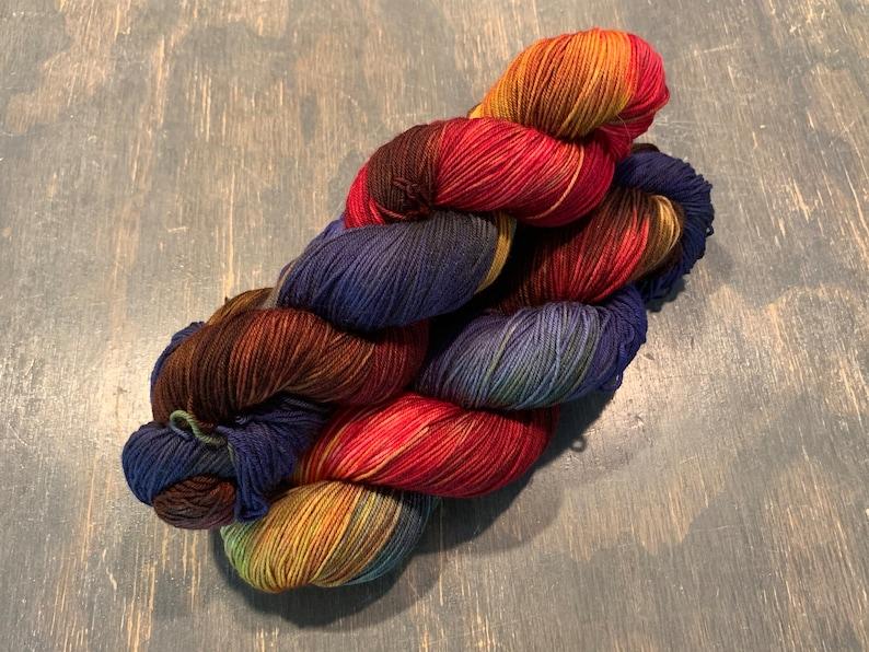 Teton Knitting Company Mountain Sock Hand Dyed Sock Yarn image 0