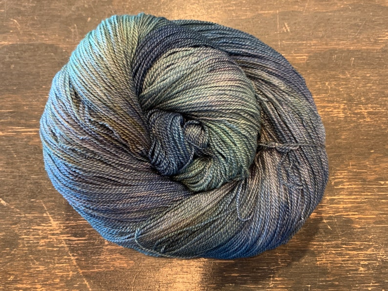 Teton Knitting Company Sky Lace Mountain Stream Hand Dyed Lace image 0