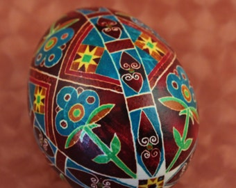 Rustic Harvest Pysanka | Chicken Ukrainian Easter Egg | Housewarming Gift