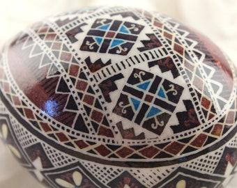 Purple Duck Pysanka | Ukrainian Easter Egg | Batik Eggs | Gift for Her