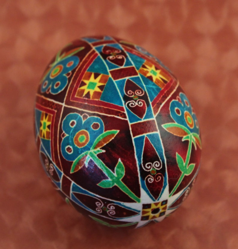 Rustic Harvest Pysanka Chicken Ukrianian Easter Egg image 0