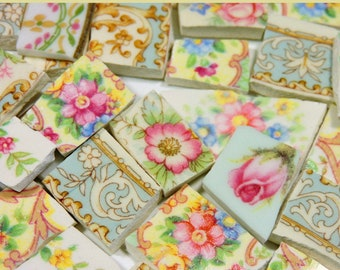 China Mosaic Tiles - SHaBBY CHiC CoLLeCTiON - 130 Vintage Mosaic Tiles