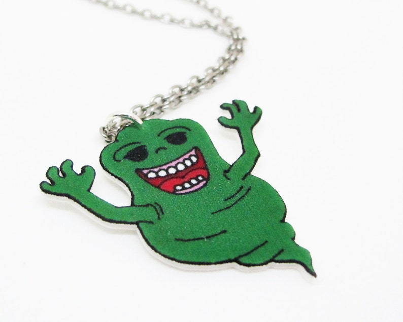 Slimer Ghostbusters 80er Jahre Cartoon Halskette Etsy