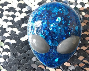 Alien pin resin one of a kind brooch