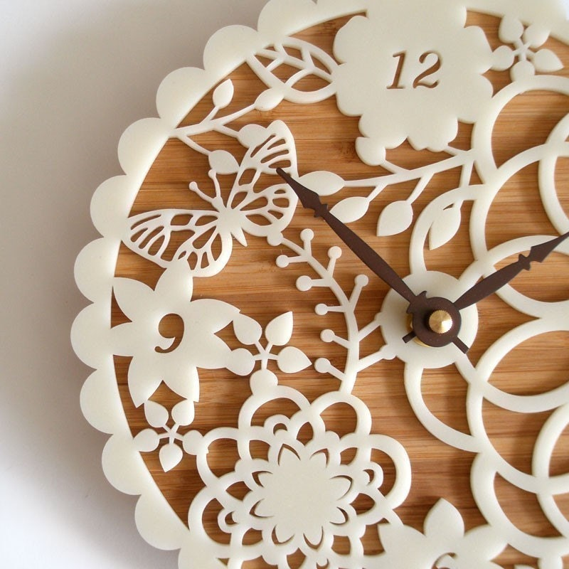 Decorative Wall Clock - Floral Kirie 01