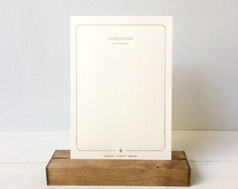Unique Gift, Intention cards with stand, spiritual gifts, gold foil, Card holder, inspirational gifts