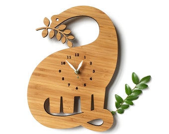Dinosaur Wall clock with numbers for kids room