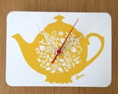 Mini Wall Hanging Clock - Tea Pot