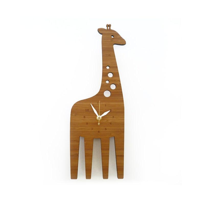 Giraffe Wall clock   Animal clock  Wall Clock for kids  image 0