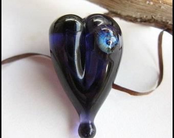 Purple Heart Focal Bead
