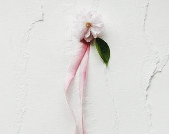 Watercolor Silk Ribbon for Wedding Invitation - Blush