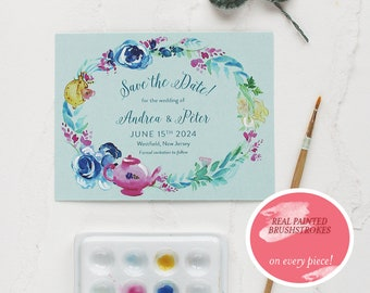 Wonderland Inspired Watercolor Save the Date