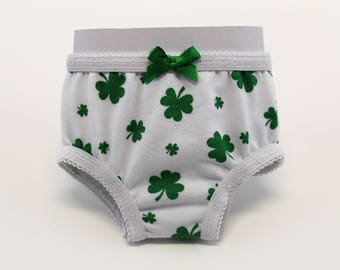 bdb6d6c87d60e 18 Inch Doll Clothes - AG - Panties - St. Patricks Day - Clover - Green - 18  Inch Doll Underwear - 18