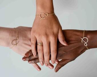 ampersand rose gold filled bracelet