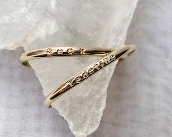 2021 One Word of the Year cuff bangle cuff bracelet seek redefine choose your word twenty twenty new year