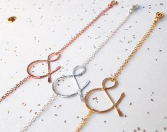 ampersand rose gold bracelet