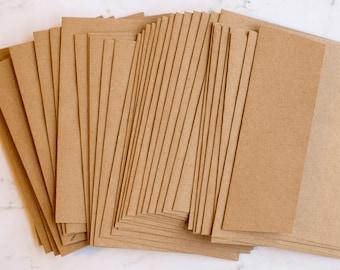 A4 envelopes, kraft or brown - perfect for 4 x 6 cards - set of 25 envelopes, GROCERY BAG