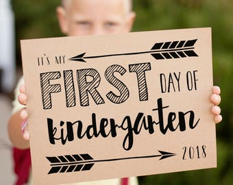first day of school signs for 2018 first day pictures grades k 12 printable signs includes 2019 last day signs instant download