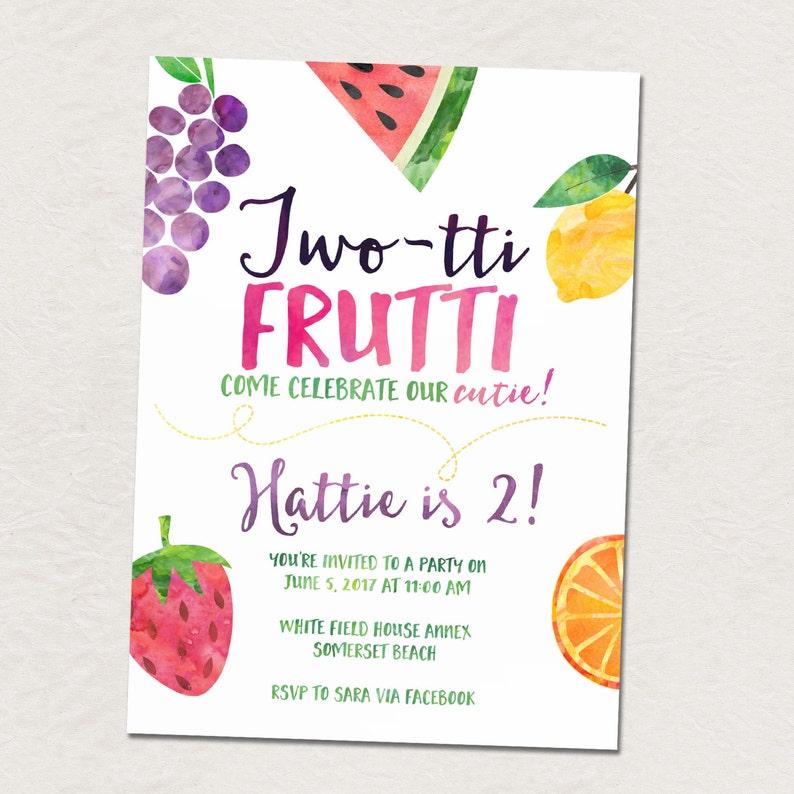 Fruit birthday party Twotti Frutti 2nd birthday party image 0