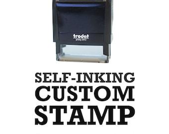 Custom Self-inking Stamp, Logo Stamp, Packaging Stamp with your logo, Self inking stamp or wood block Custom Logo Stamp, gift bag stamp