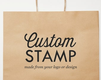 Custom packaging stamp, Gift bag stamp, Custom stamp with logo, Personalized stamp for branding packaging with your logo, Self inking, wood