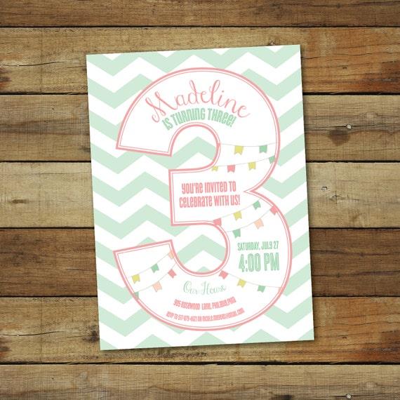 3rd birthday party invitation third birthday party etsy image 0 filmwisefo