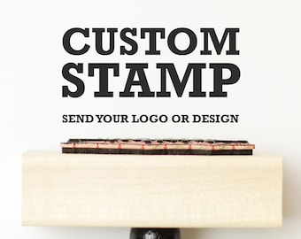 Custom Logo Stamp, Packaging Stamp with your logo, Self inking stamp or wood block Custom Logo Stamp, Wood Mounted Stamp, gift bag stamp